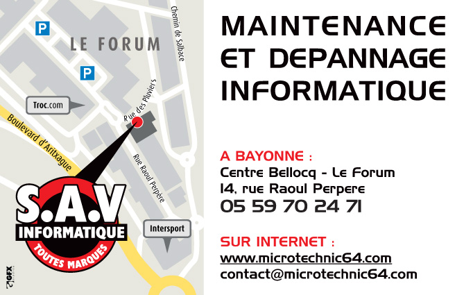 Microtechnic64 bayonne le forum sav informatique for Forum bayonne